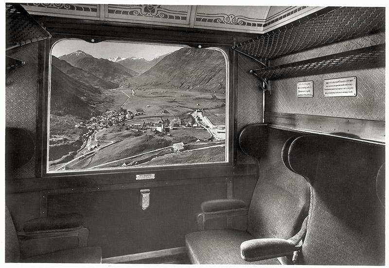 Historischer Wagen des Glacier Express. Foto: Glacier Express