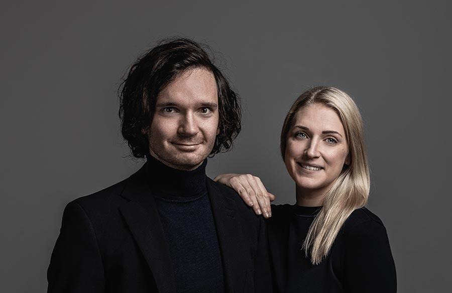 Produktdesigner Gustav Berg und Ida Eriksson
