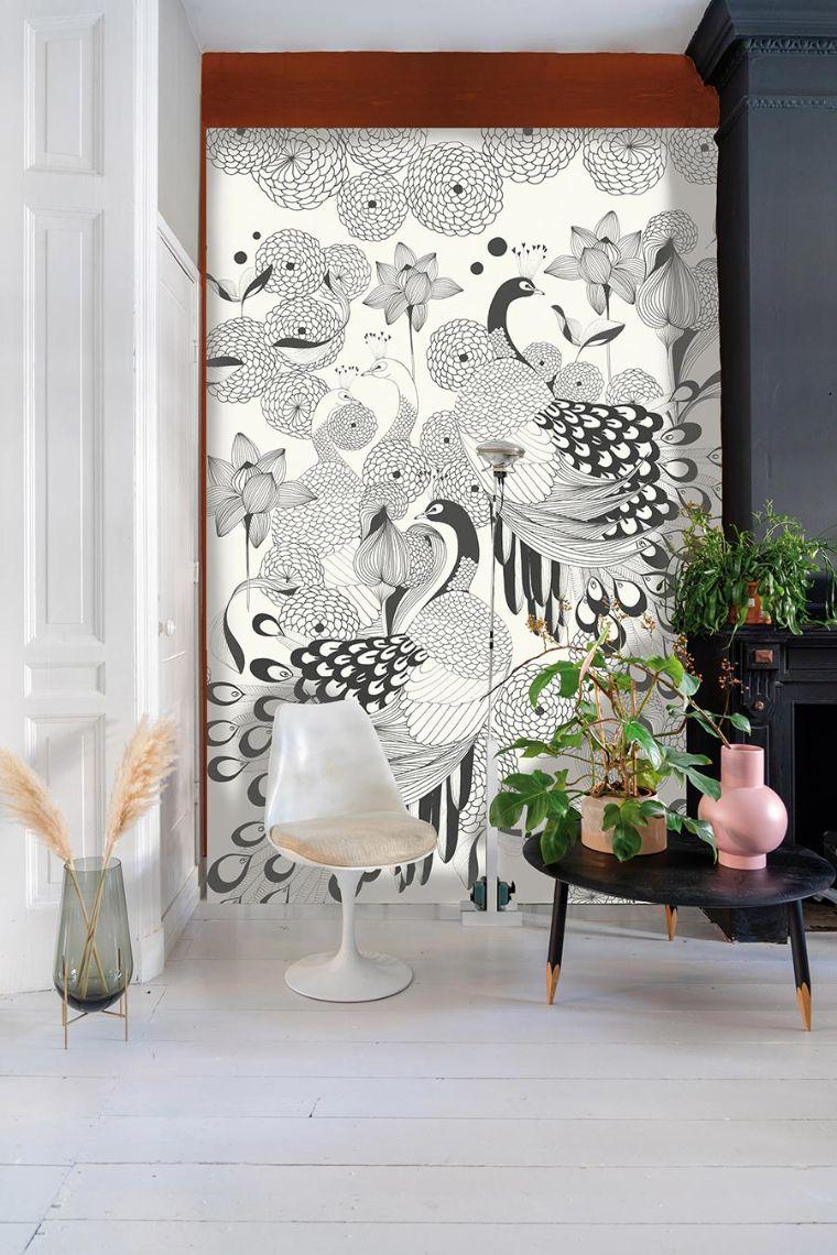 Filigrane Linien. Für Zurückhaltende mit Stil: Fantasievolle Motive in Schwarz-Weiß. Kollektion: Club Botanique Bildquelle: DTI/Rasch