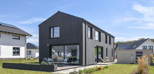 Einfamilienhaus in Schwarz